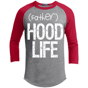 (father)HOOD LIFE | 3/4 Sleeve Raglan Tee-Apparel-Swagtastic Gear