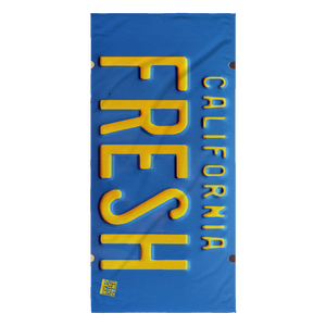 FRESH License Plate | Towel-Beach Towel-Swagtastic Gear