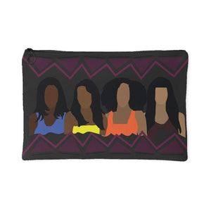 Girlfriends | Small Cosmetic Bag or Large Clutch - PLUM-Accessory Pouches-Swagtastic Gear
