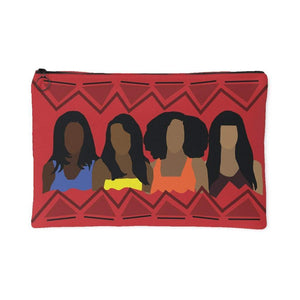 Girlfriends | Small Cosmetic Bag or Large Clutch - RED-Accessory Pouches-Swagtastic Gear