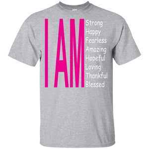 I Am: Strong, Happy, and Amazing | Youth Tee-Apparel-Swagtastic Gear