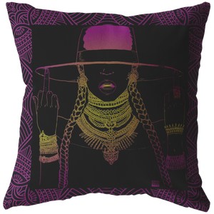 Middle Fingers Up -Beyonce | Pillow (Insert Included!)- PINK LEMONADE-Pillows Multi-Swagtastic Gear