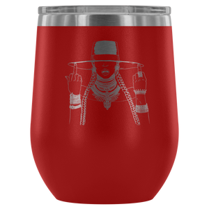 Middle Fingers Up -Beyonce | Wine or Coffee Tumbler-Wine Tumbler-Swagtastic Gear