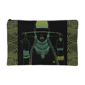 Middle Fingers Up | Small Cosmetic Bag or Large Clutch - Lemonade-Accessory Pouches-Swagtastic Gear