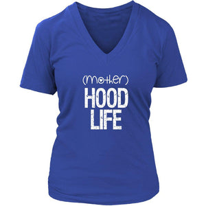 (mother)HOOD LIFE | v-neck Tee-T-shirt-Swagtastic Gear