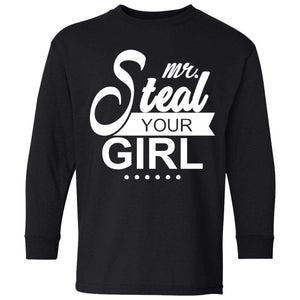 Mr. Steal Your Girl | Boys Youth Long Sleeve Tee-T-Shirts-Swagtastic Gear