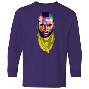 Mr. T - I Pity the Fool Mosiac | Youth Long Sleeve Tee-T-Shirts-Swagtastic Gear