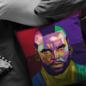 Mr T.- Pity the Fool Mosaic | Pillow (Insert included!)-Pillows Multi-Swagtastic Gear