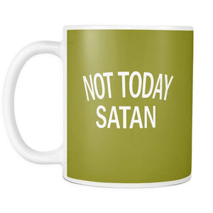 NOT TODAY SATAN | Mug-Drinkware-Swagtastic Gear