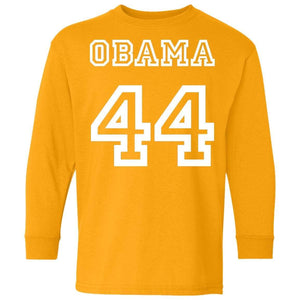OBAMA 44 | Youth Long Sleeve Tee-T-Shirts-Swagtastic Gear