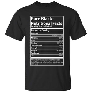 Pure Black Nutritional Facts | Tee-Apparel-Swagtastic Gear