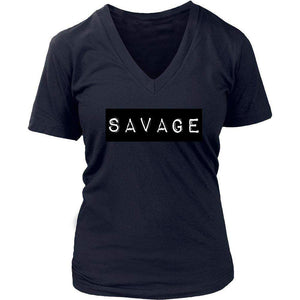 SAVAGE | v-neck Tee-T-shirt-Swagtastic Gear
