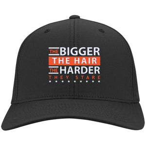 The BIGGER the Hair, The HARDER They Stare | Twill Cap-Apparel-Swagtastic Gear