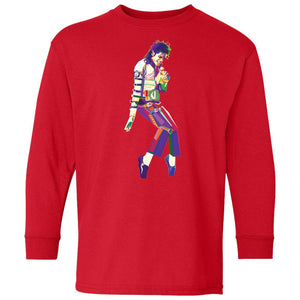 The King - Michael Jackson Mosaic | Youth Long Sleeve Tee-T-Shirts-Swagtastic Gear