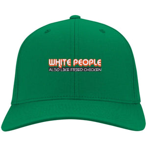 White People Also Like Fried Chicken | Twill Cap-Apparel-Swagtastic Gear
