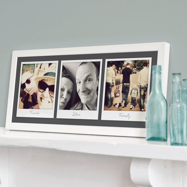 Personalised Triple Retro Photo Print