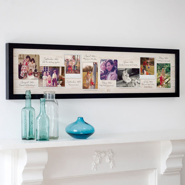 Personalised Vintage Photo Timeline Print