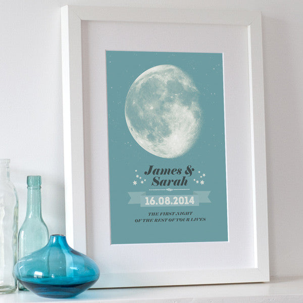 Personalised Moon Print