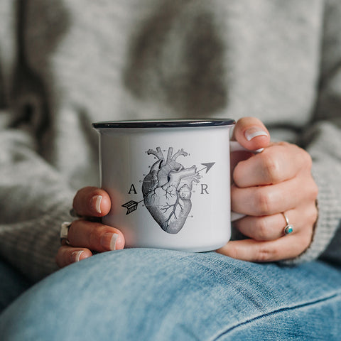 Personalised Anatomical Love Heart Ceramic Mug
