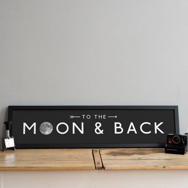 'To The Moon and Back' Destination Print