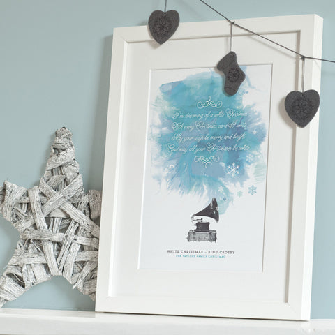 Personalised Christmas Song Lyrics Print