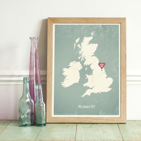 Personalised British Isles Location Print
