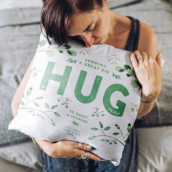 Personalise 'Evergreen' Hug Cushion