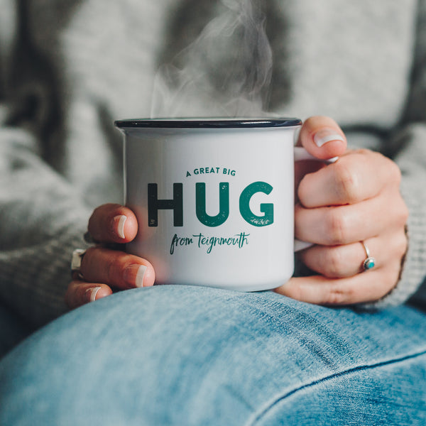 'A great Big Hug from...' Your Location Ceramic Mug