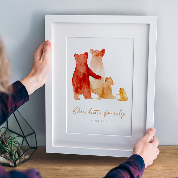 Personalised 'Bear Family' Print