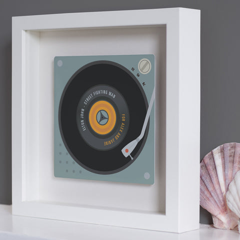 Personalised Favourite Record Framed Metal Plate