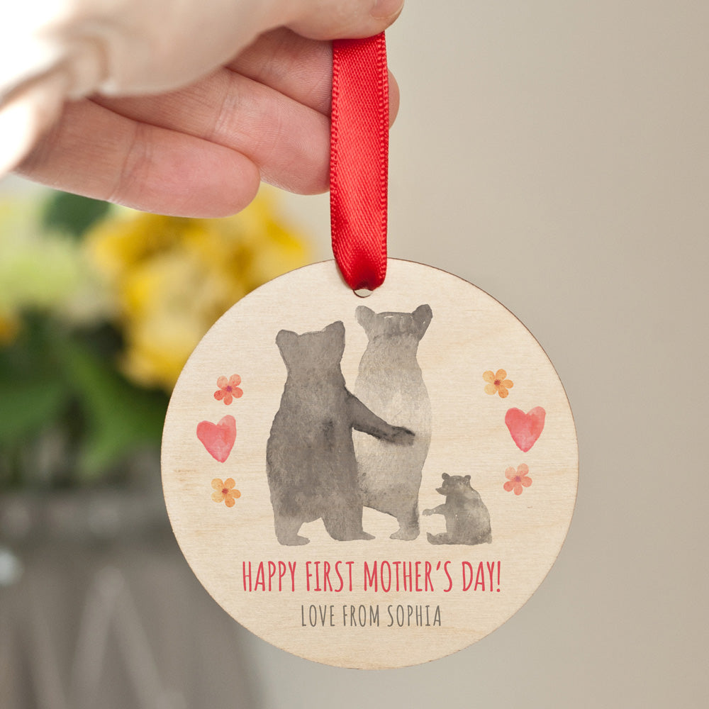 Personalised First Mother's Day Bear Family Keepsake