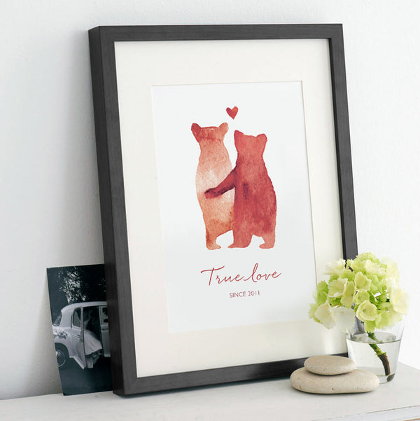 Personalised 'Bear Love' Print