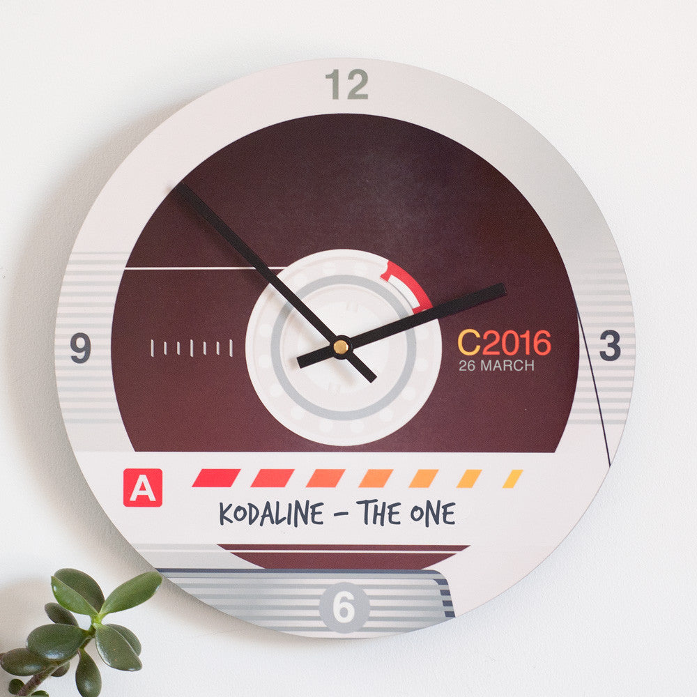 Personalised Retro Cassette Tape Clock