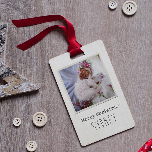 Personalised Pet Photo Christmas Decoration