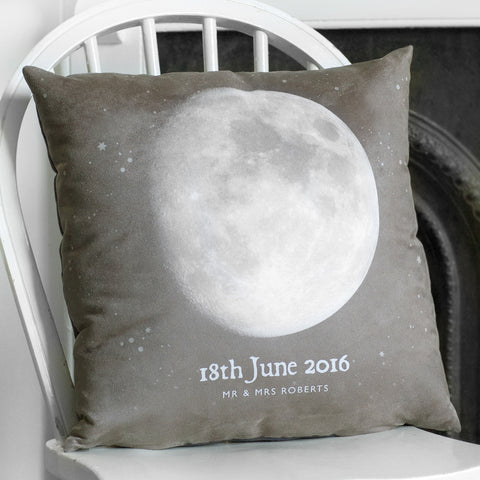Personalised Special Date 'Moon Phase' Cushion