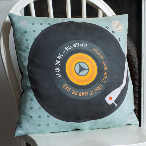 Personalised 'Our Song' Faux Suede Cushion