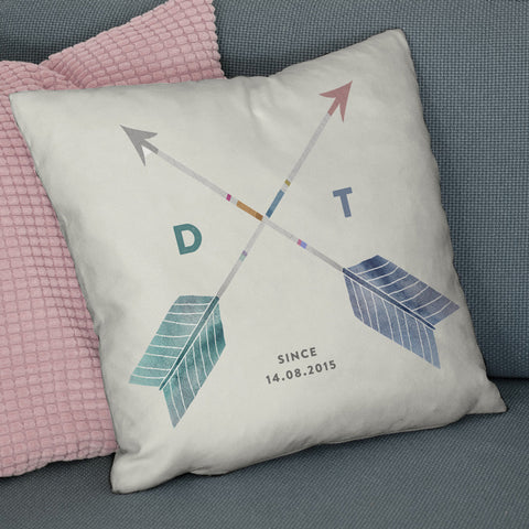Personalised Couples Initials Wedding Cushion