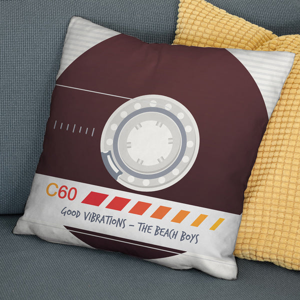 Personalised Favourite Song Retro Cassette Tape Cushion