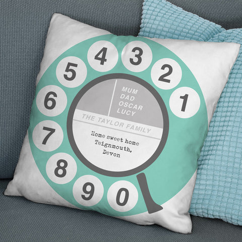 Personalised Retro Telephone Dial Cushion