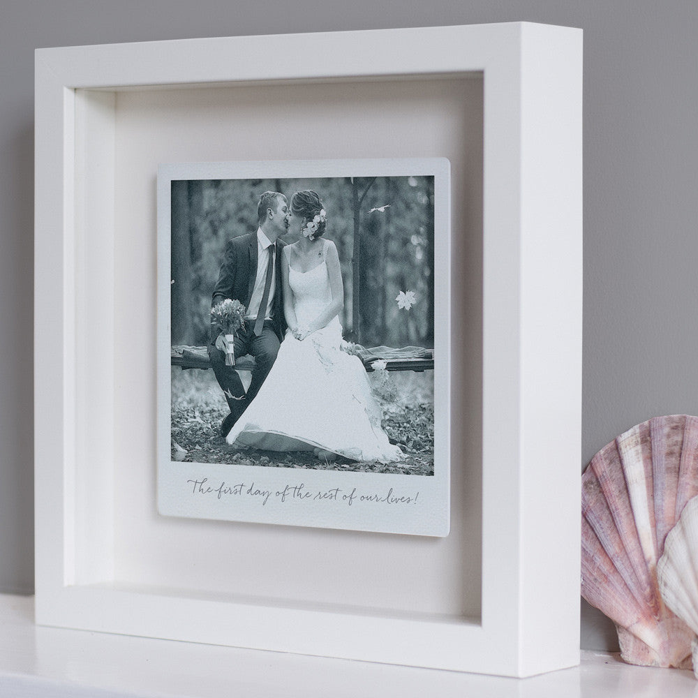 Personalised Framed Floating Metal Polaroid Photo – The Drifting ...