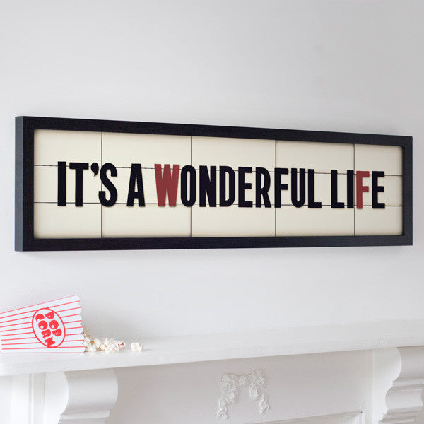 """It's a Wonderful Life"" Cinema Marquee Print"