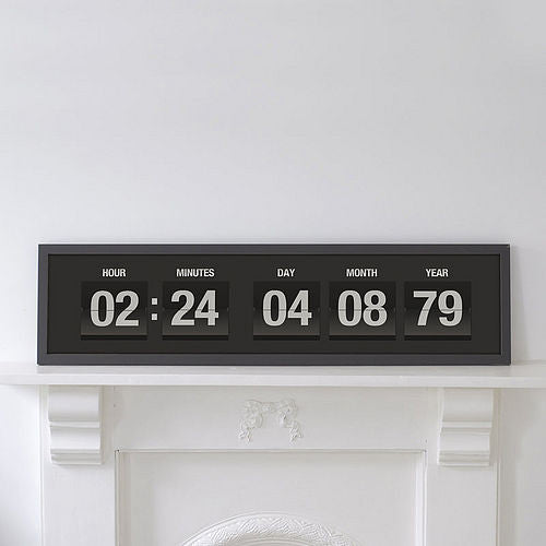 Personalised Flip Clock Print