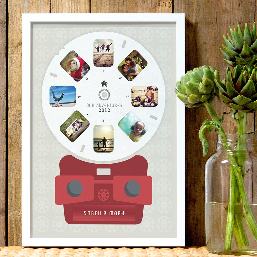 Personalised 'Viewmaster' Style Photo Print