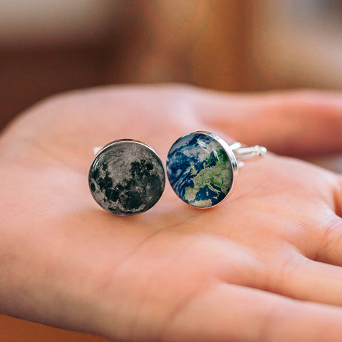 Personalised To The Moon And Back Cufflinks For Dad