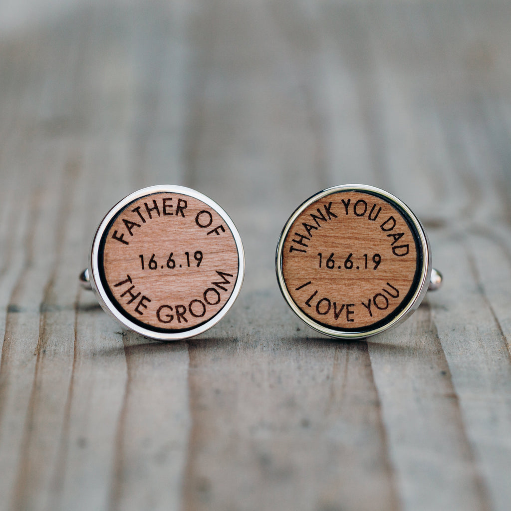 Father Of The Groom Wooden Wedding Thank You Cufflinks – The ...