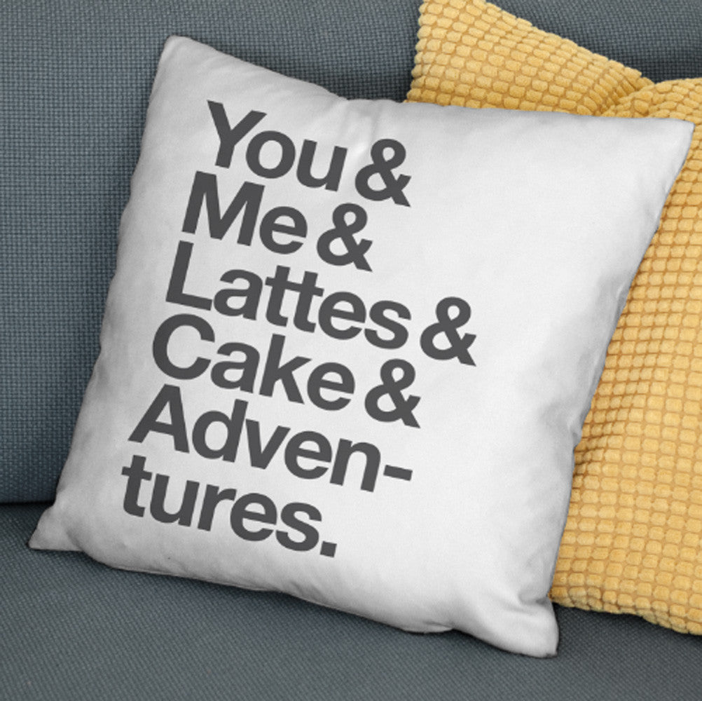 Typographic 'Favourite Things' Personalised Cushion