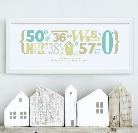 Personalised 'Our Home' Coordinate Print