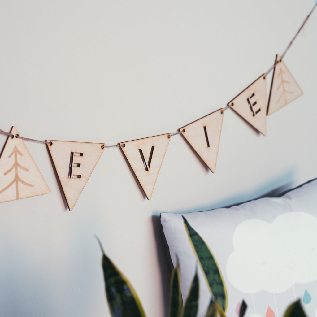 Customised Wooden Bunting Letters