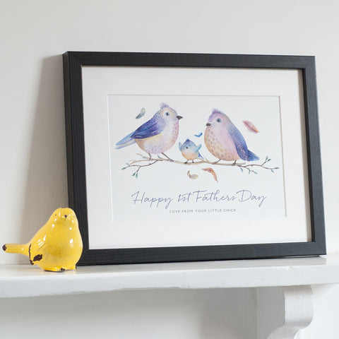 Personalised 'Bird Family' Print