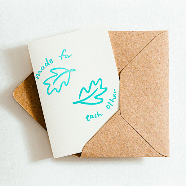 'Made For Each Other' Recycled Coffee Cup Card